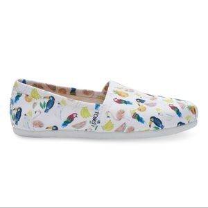 Toms 9W Classic Slip on Shoes Parrot Tropical